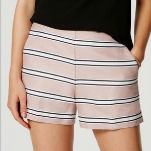 NWT Adobe blush pink stripe loft shorts